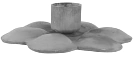 Taper candle dark grey