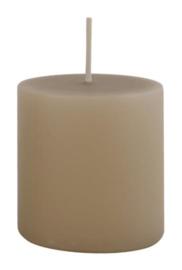 Pillar candle light brown