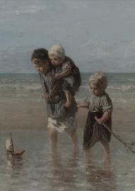 Deco bordje 2 kinderen van de zee