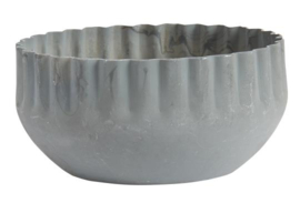 Candle holder f/dinner candle wavy edge