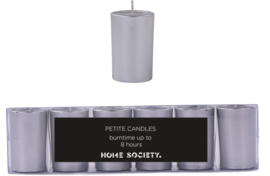 Votive candle silver set van 6