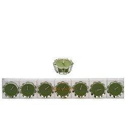 HS- Flower Votive kaarsjes groen- set van 6