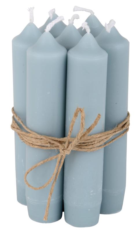 Short dinner candle light blue
