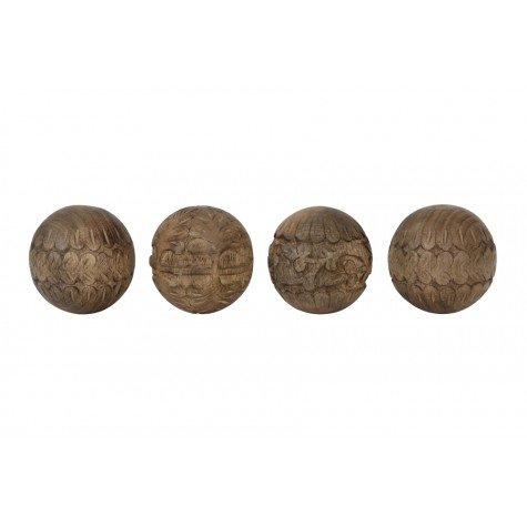 Houten ornament ballen