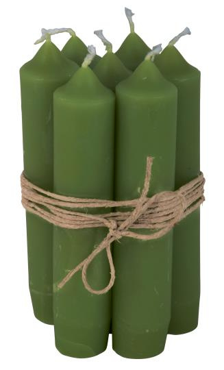 Short dinner candle green