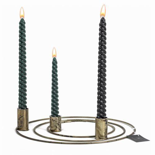 Candle Junkie doosje spiraalkaarsen groen (6 stuks)
