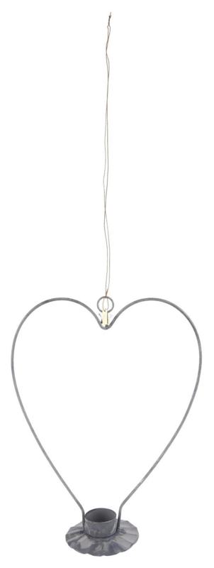 Candle holder f/tealight heart-shaped