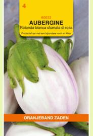 Aubergine 'Rotonda Bianca Sfumata di Rosa', Solanum melongena