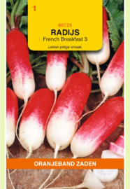 Radijs 'French Breakfast 3', Raphanus sativus var sativus