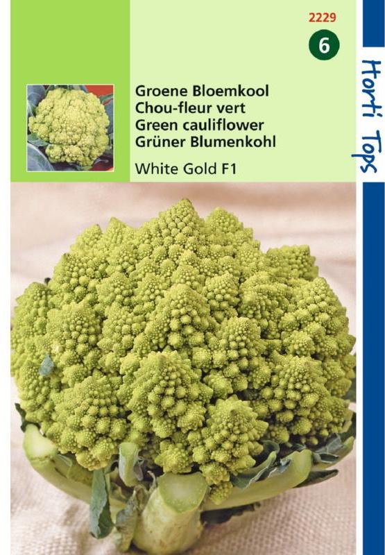 Bloemkool romanesco 'White Gold F1', Brassica oleracea botrytis var. Botrytis