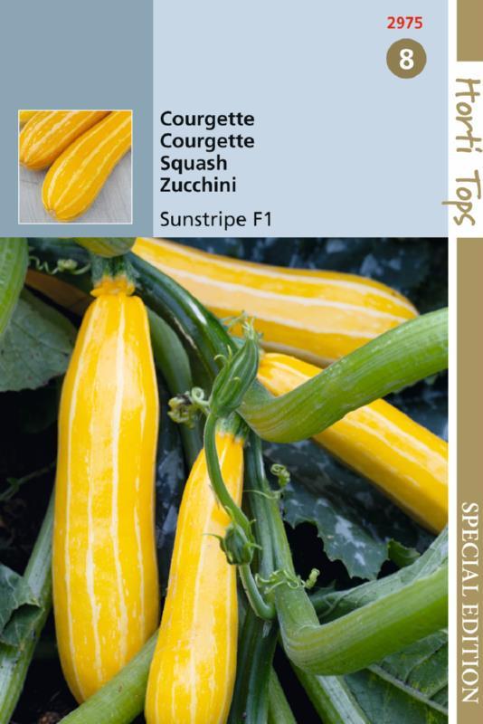 Courgette geel 'Sunstripe F1', Cucurbita pepo