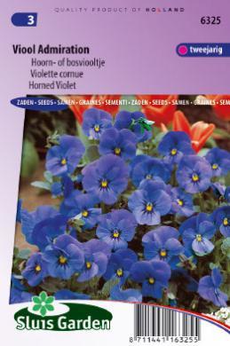 Viola X 'Admiration', Grootbloemig Bosviooltje