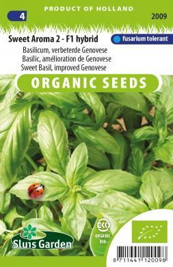 Basilicum 'Sweet Aroma 2 F1', Ocimum basilicum Biologisch