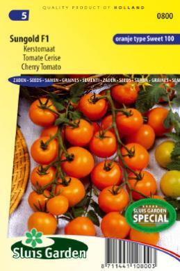 Cherrytomaat 'Sungold F1', Solanum lycopersicum