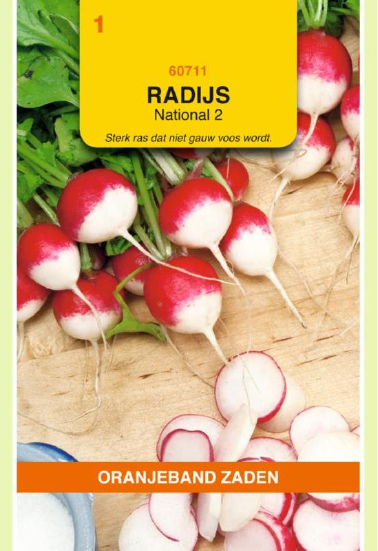 Radijs 'National 2', Raphanus sativus var sativus