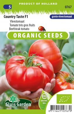 Tomaat 'Country Taste F1', Solanum lycopersicum L. Biologisch