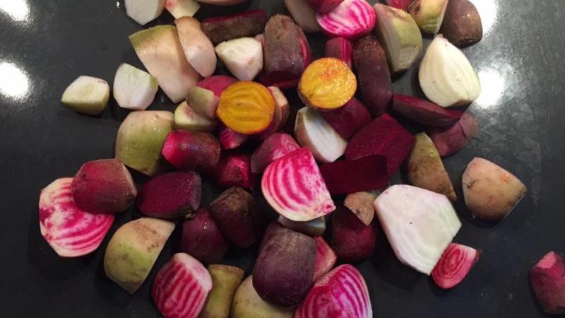 Bieten mix 4 kleuren,  Beta vulgaris var. rubra en  Beta vulgaris subsp. vulgaris var. Vulgaris