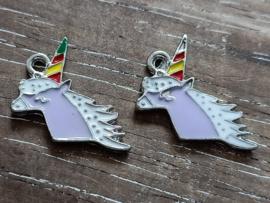 Paarse unicorn/4 stuks