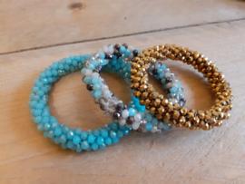 Biba armbanden blauw-goudbruin