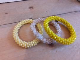 Biba armbanden geel tinten
