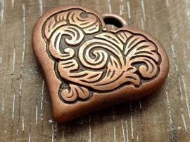 Groot koper hart/per 2