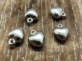 Hartjes zilver/per 10