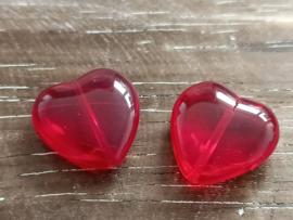 Rode hartjes/per 4