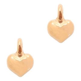 DQ metaal hart Rosé goud/3 stuks