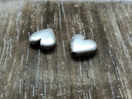 Harten zilver/per 3