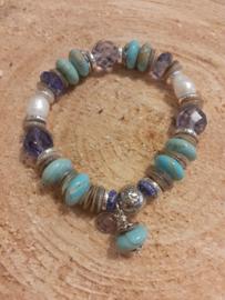 Armband met hematiet & turquoise