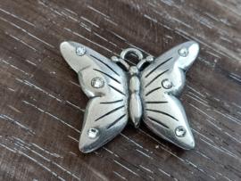 TQ metaal vlinder met strass steentjes/per stuk
