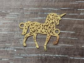 Tussenstukken bohemian unicorn Goud/2 stuks