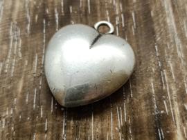 ZIlver hart/per stuk