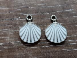 Schelp zilver/2 stuks