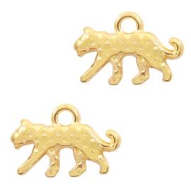 DQ metaal luipaard Goud 2 stuks