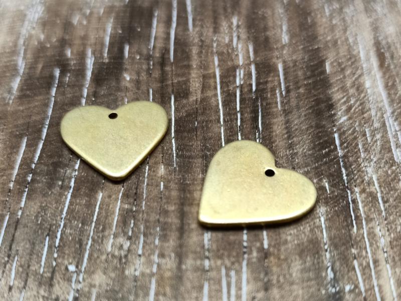 Goud hart/per 2