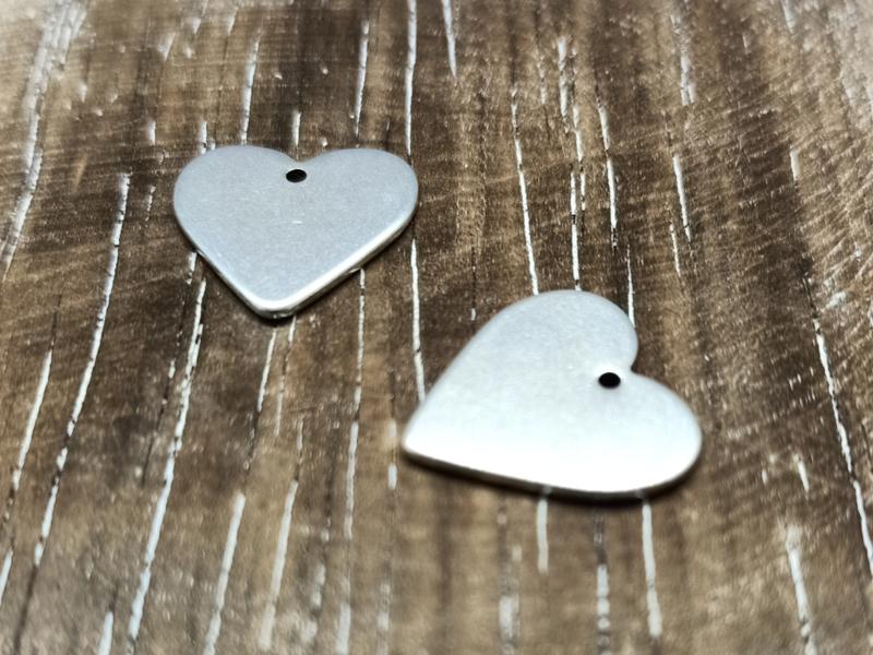 Hartje zilver/per 2