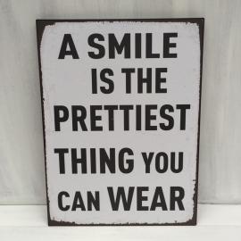 """Tekstbord""""Smile"""""""