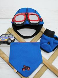Driver bleu set 6-9 maanden