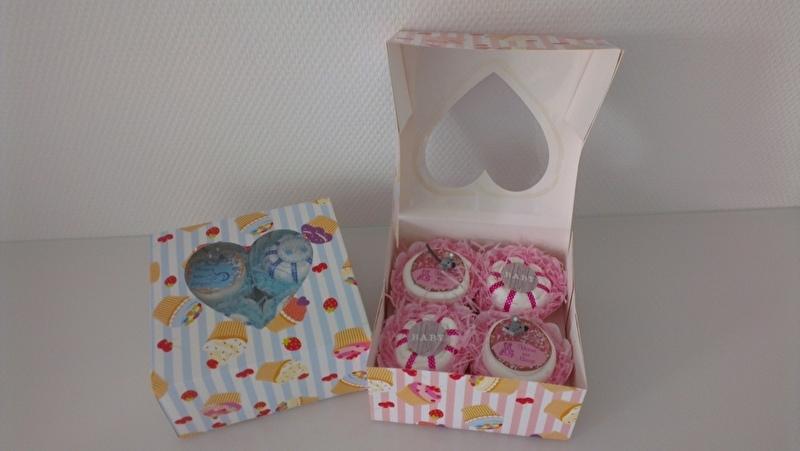 4 muffins in een doosje