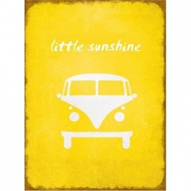 Little Sunshine vw busje - tekstbord