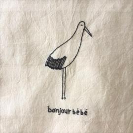 Katoenenposter Bonjour Bebe - Lemonwise
