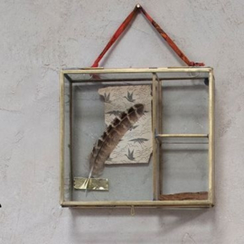 Nkuku foto box antiek brass