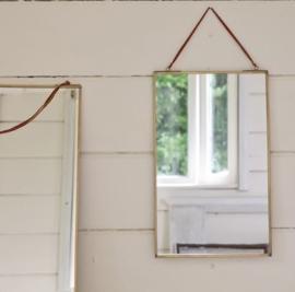 Nkuku spiegel antiek brass - 25 x 40cm