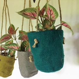 Plantenhangers jute - Only Natural
