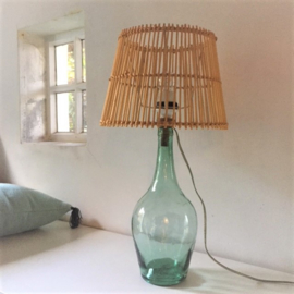 Vintage fleslamp groen