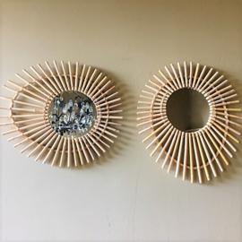 Rotan Spiegel Oogvorm - Manggis Living