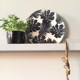 Decoratief zwart/wit Bord - Pomax
