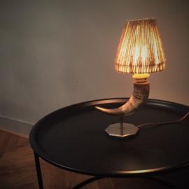 Vintage lamp koehoorn - VERKOCHT