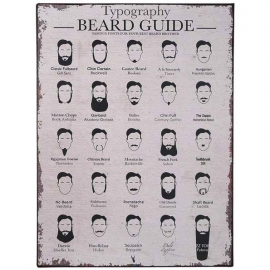 The Beard Guide - tekstbord